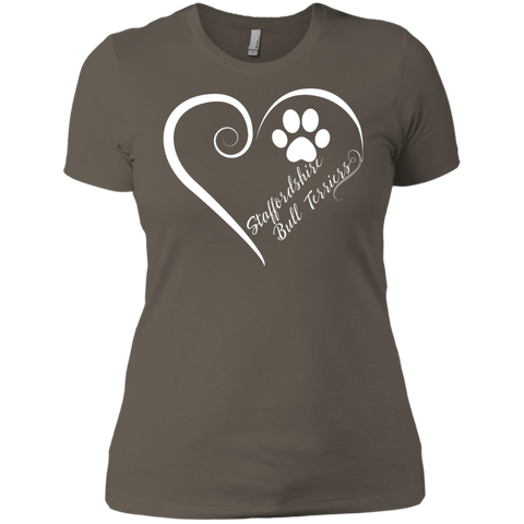 Staffordshire Bull Terrier, Always in my Heart Ladies' Boyfriend Tee