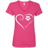 Great Dane, Always in my Heart Ladies V Neck Tee