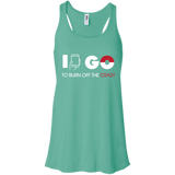 I Go to Burn Off Crazy #2 I Go Juniors Flowy Racerback Tank