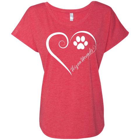 Ibizan Hound, Always in my Heart  Ladies Triblend Dolman Sleeve