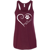 Dogue De Bordeaux, Always in my Heart Flowy Racerback Tank
