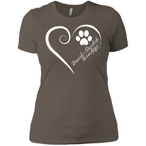 Danish-Swedish Farmdog, Always in my Heart Ladies' Boyfriend Tee