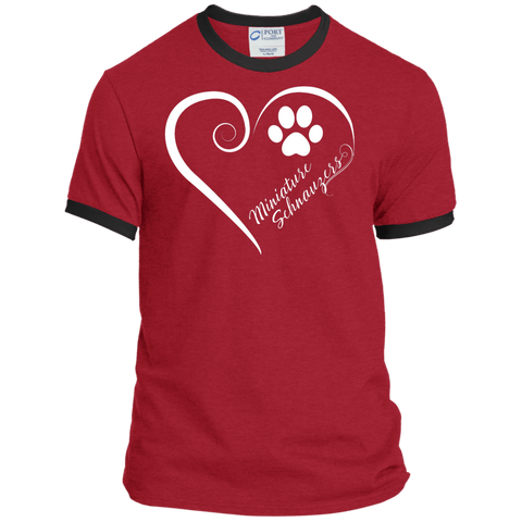 Miniature Schnauzer, Always in my Heart Ringer Tee