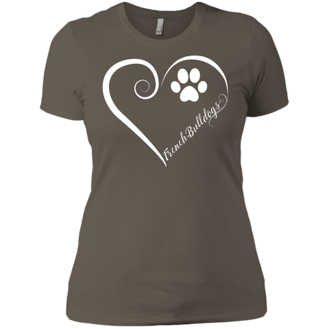 French Bulldog, Always in my Heart Ladies' Boyfriend Tee