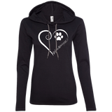 Golden Retriever, Always in my Heart Ladies LS T-Shirt Hoodie
