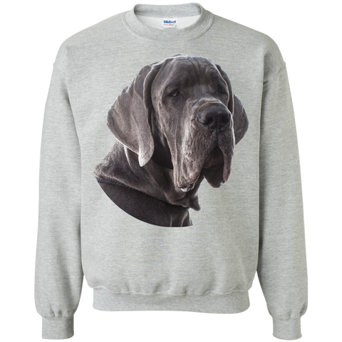 Great Dane Portrait Unisex Gildan Crewneck Pullover Sweatshirt 8 oz.