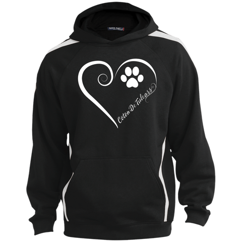 Coton De Tulear, Always in my Heart Colorblock Sweatshirt