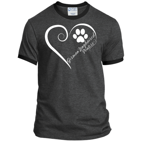 German Longhaired Pointer, Always in my Heart Ringer Tee