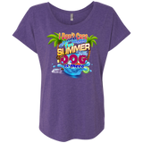 Don't Care Summer Ladies Dolman Sleeve Relaxed Fit Tee