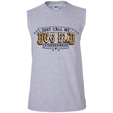 Dog Dad Extraordinaire G270 Gildan Men's Ultra Cotton Sleeveless T-Shirt