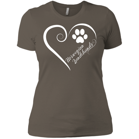Norwegian Lundehund, Always in my Heart  Ladies' Boyfriend Tee