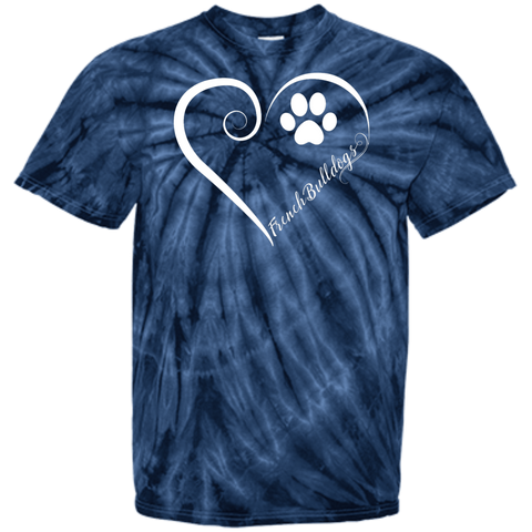 French Bulldog, Always in my Heart Tie Dye T-Shirt