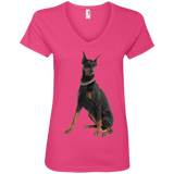 I know i'm Cute Ladies V-Neck Tee