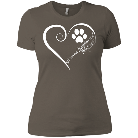 German Longhaired Pointer, Always in my Heart Ladies' Boyfriend Tee