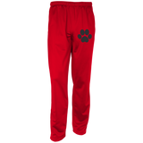 Paw Print Embroidered Warm-Up Track Pants