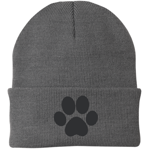 Paw Print One Size Fits Most Knit Cap