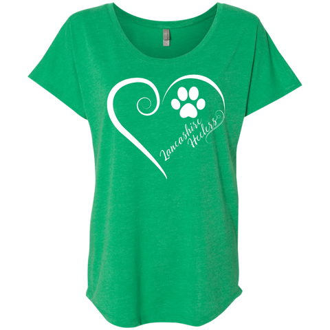Lancashire Heeler, Always in my Heart  Ladies Triblend Dolman Sleeve