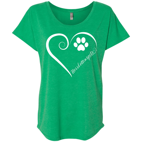 Norrbottenspets, Always in my Heart Ladies Triblend Dolman Sleeve