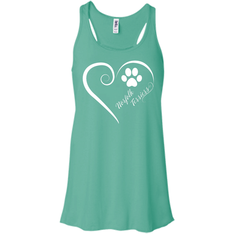 Norfolk Terrier, Always in my Heart  Flowy Racerback Tank