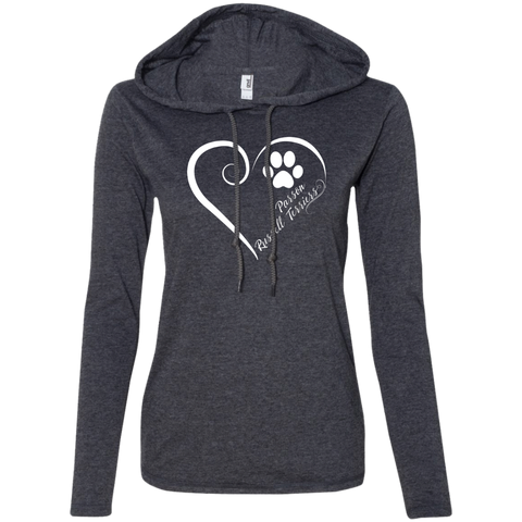 Parson Russell Terrier, Always in my Heart  Ladies T-Shirt Hoodie
