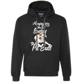 Hanging with My Pitbull Hoodie
