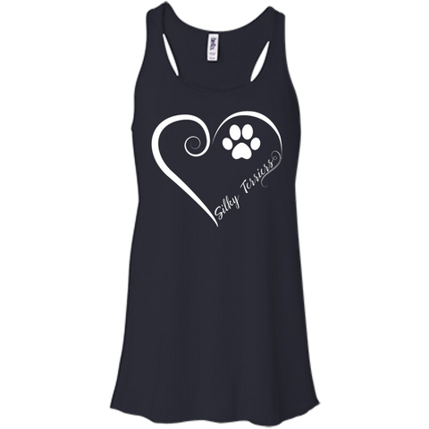 Silky Terrier, Always in my Heart Flowy Racerback Tank