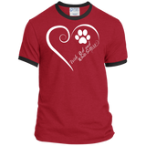 Irish Red and White Setter, Always in my Heart Ringer Tee