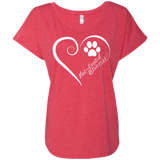 Flat-Coated Retriever, Always in my Heart Ladies Triblend Dolman Sleeve