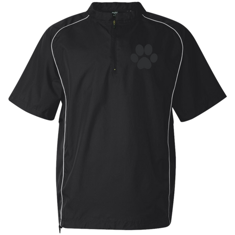 Paw Print Short Sleeve 1/4 zip Wind Shirt