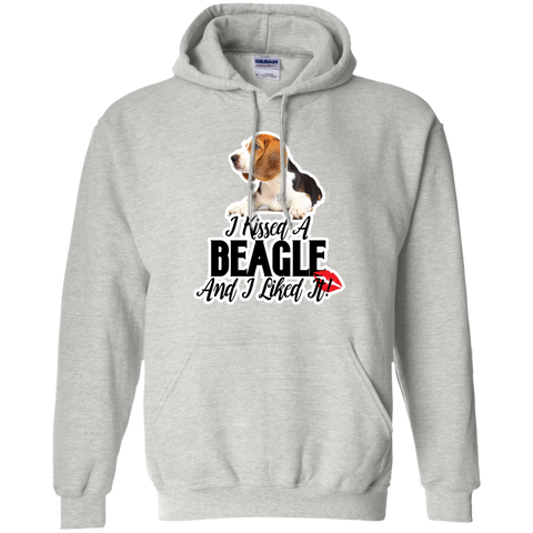 I kissed a Beagle and I liked it Unisex G185 Gildan Pullover Hoodie 8 oz.