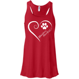 Miniature Pinschers, Always in my Heart Flowy Racerback Tank