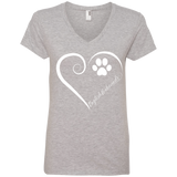 English Foxhound, Always in my Heart Ladies V Neck Tee
