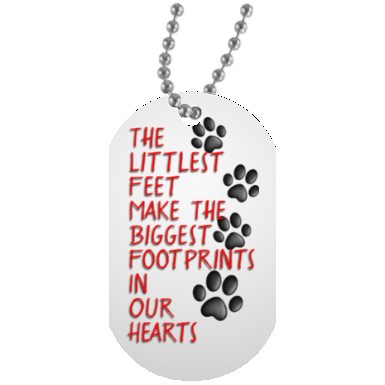 Littlest Feet Dog Tag