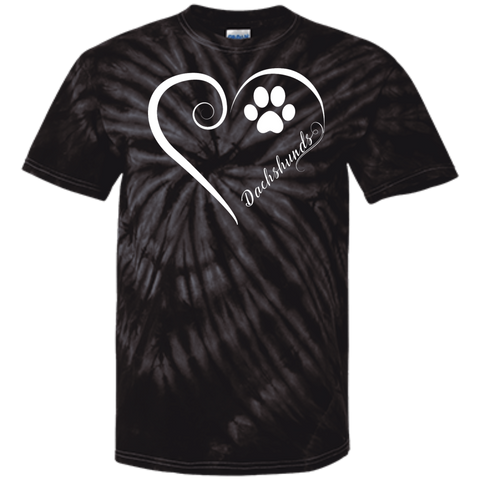 Dachshund, Always in my Heart Tie Dye T-Shirt
