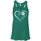 Irish Red and White Setter, Always in my Heart Flowy Racerback Tank