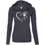 Norwegian Elkhound, Always in my Heart Ladies T-Shirt Hoodie