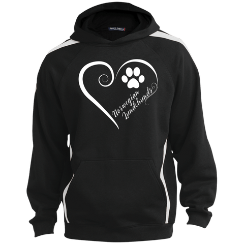 Norwegian Lundehund, Always in my Heart  Colorblock Sweatshirt