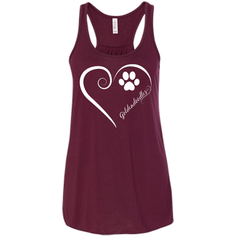 Goldendoodle, Always in my Heart Flowy Racerback Tank