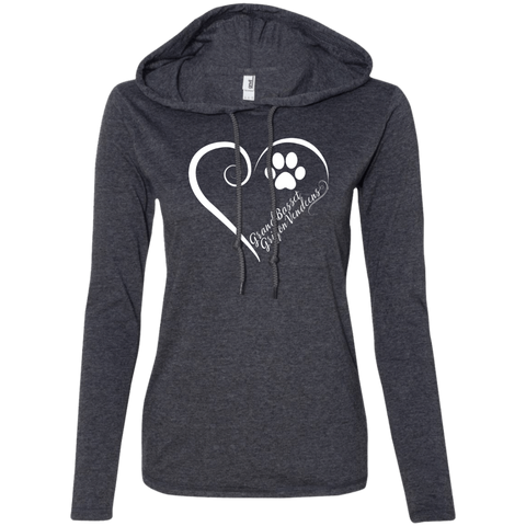 Grand Basset Griffon Vendeen, Always in my Heart Ladies LS T-Shirt Hoodie