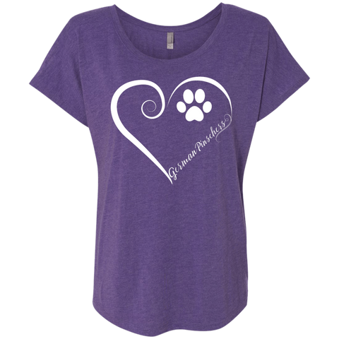German Pinscher, Always in my Heart Ladies Triblend Dolman Sleeve