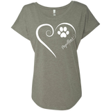 Papillon, Always in my Heart Ladies Triblend Dolman Sleeve