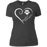 Standard Schnauzer, Always in my Heart Ladies' Boyfriend Tee