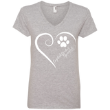 English Cocker Spaniel, Always in my Heart Ladies V Neck Tee