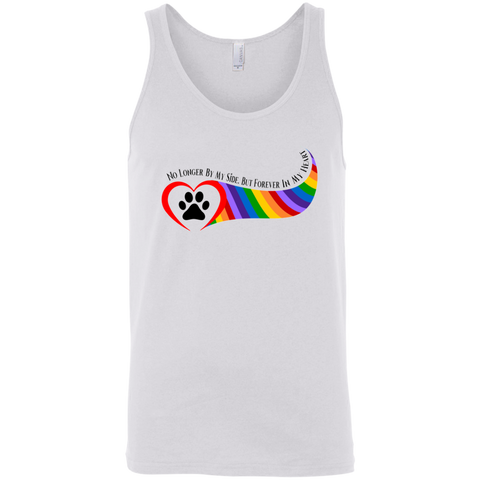 Paw in Heart Rainbow Right No Longer By My Side 3480 Bella + Canvas Unisex Tank