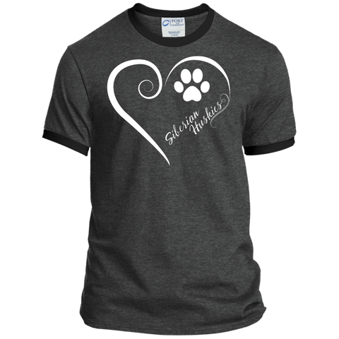 Siberian Husky, Always in my Heart Ringer Tee