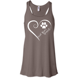 Irish Water Spaniel, Always in my Heart Flowy Racerback Tank
