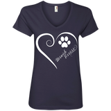 Norwich Terrier, Always in my Heart Ladies V Neck Tee