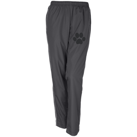 Paw Print Women's Embroidered Piped Wind Pants