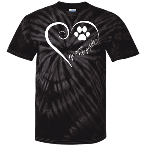 German Shepherd, Always in my Heart Tie Dye T-Shirt