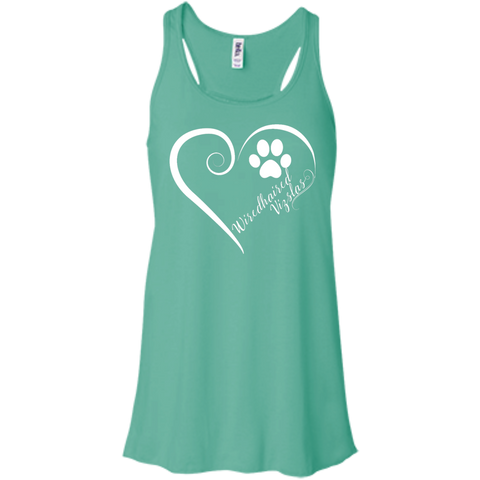 Wiredhaired Vizsla, Always in my Heart Flowy Racerback Tank